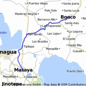 Cycling routes and bike maps in and around Masaya Bikemap Your