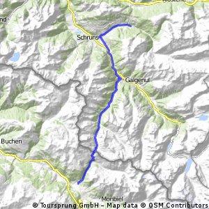 Transalp 2016 Teil 4 von Silbertal nach Klosters