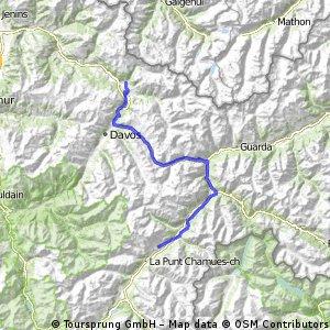 Transalp 2016 Teil 5 von Klosters nach Zuoz