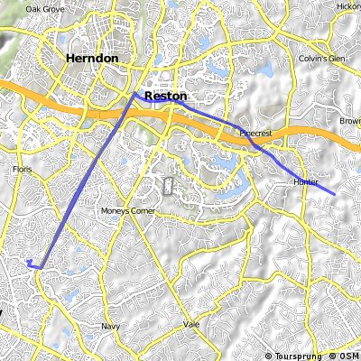 Bike Tour Through Herndon/Reston