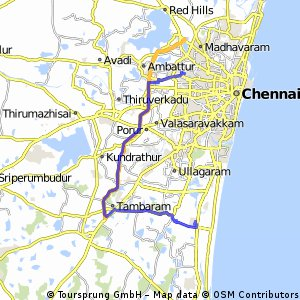 Lengthy bike tour from Perambur Purasavakam to Sholinganallur