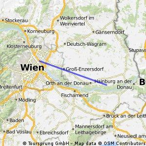 Quick ride from Vienna to Eckertsau
