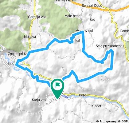 bike tour through Ivančna Gorica