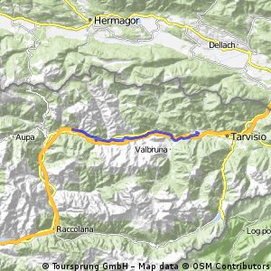ride from Pontebba to Camporosso in Valcanale