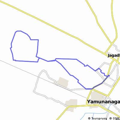 Long bike tour through Yamunanagar