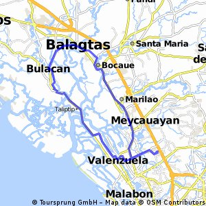 Cycling routes and bike maps in and around Valenzuela Bikemap