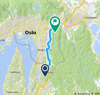 ride from Sofiemyr to Oslo