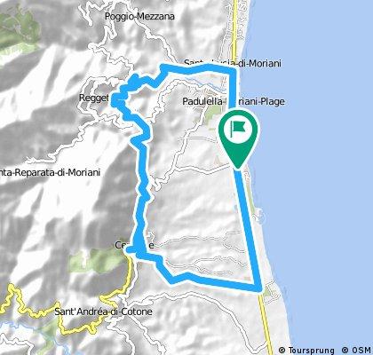 bike tour through San-Nicolao