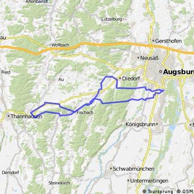 E-Bike Augsburg - Oberschönenfeld - Fischach - Ziemetshausen