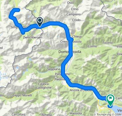 Simplon-Pass/Wallis, von Verbania/Piemont/Lago Maggiore '90