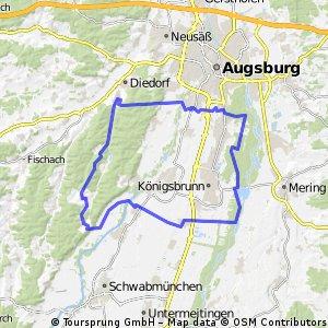 E-Bike Augsburg - Lochbach - Reinhartshofen - Wellenburg