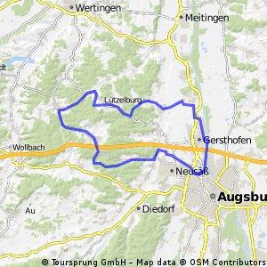 E-Bike Augsburg - Gablingen - Welden - Aystetten