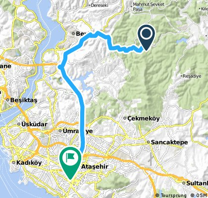 Lengthy bike tour from Polonezköy to Barbaros