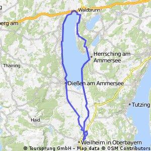 Lange Radrunde durch Weilheim in Oberbayern