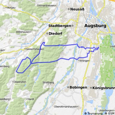 E-Bike Augsburg - Oberschönenfeld - Anhausen - Wellenburg
