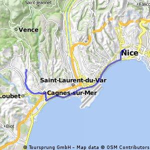 Cycling routes and bike maps in and around Saint-Paul-de ... on st. paul hotels map, saint paul de vence tourism, barra de navidad mexico map, saint remy de provence map, city of saint paul map, saint jean cap ferrat map,