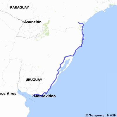 De Curitiba até Montevideo