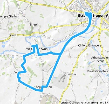 ride through Stratford-upon-Avon