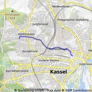 Schnelle Ausfahrt durch Kassel