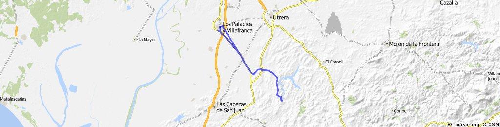 Long ride through Los Palacios y Villafranca
