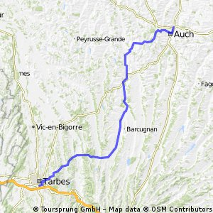 2016 Ride Day 116 - Auch to Tarbes