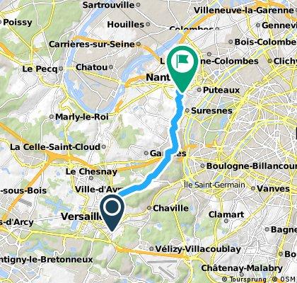 bike tour from Versailles to Nanterre
