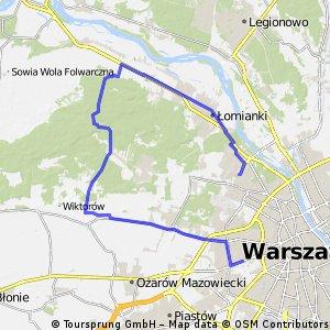 Przez Truskaw,Palmiry Dziekanow,Łomianki do Młocin .