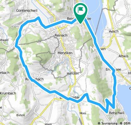 Mosen-Ermensee-Sträflinge-Herrlisberg-Beromünstet-Rickenbach-Bohler-Gontenschwil-Moos-Beinwil am See