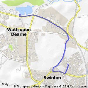 to wath lake and back from swinton on st john's roads