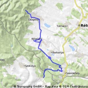 bike tour from Magyarkút to Diósjenő