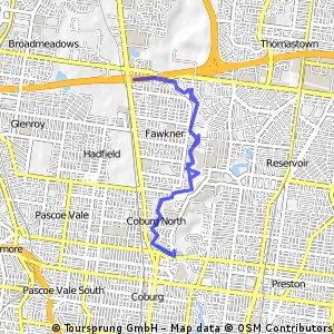 bike tour through Coburg North