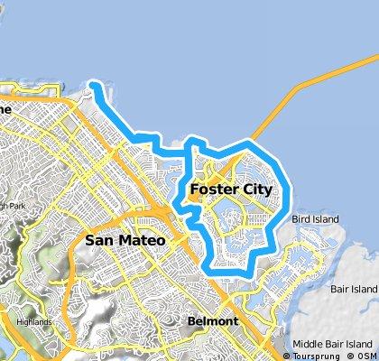 bike tour through Foster City
