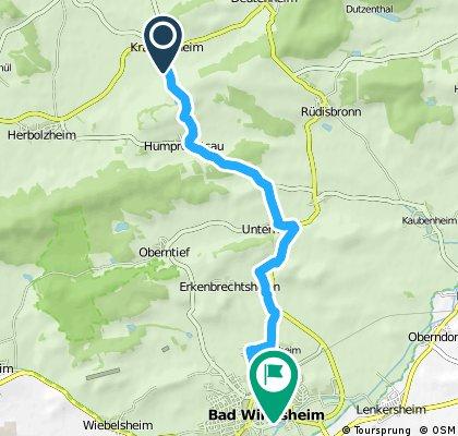 Ausfahrt von Sugenheim nach Bad Windsheim
