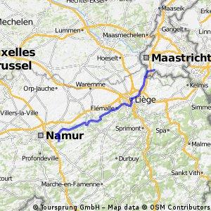 Dag 1: Maastricht-Gesves (85 KM)