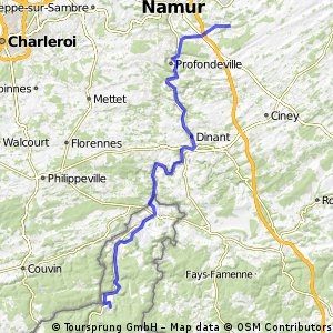 Dag 2: Namur- Fumay (83 KM)
