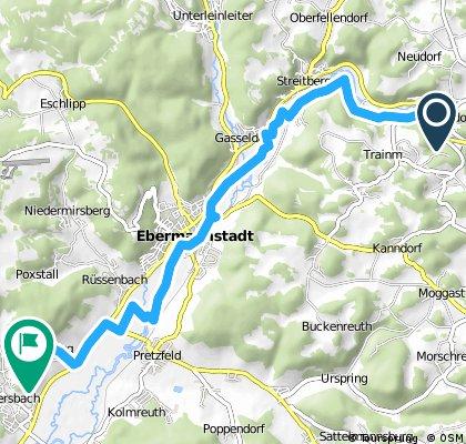 Gruppenhaus Steeger - Wiesenttal nach Weilersbach (Biergarten)