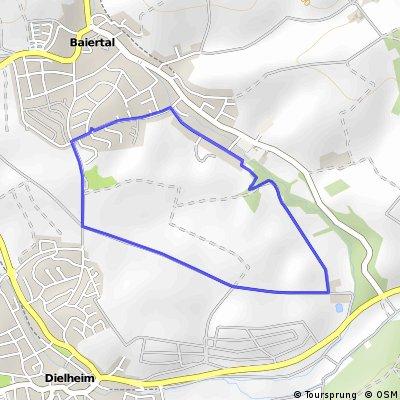 Kleine Rundtour Baiertal über Hof Freudensprung