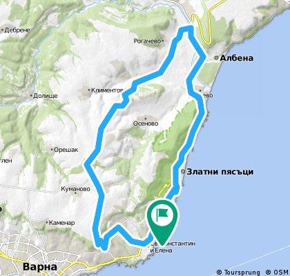 Lengthy ride from Pastviny to Varna Municipality