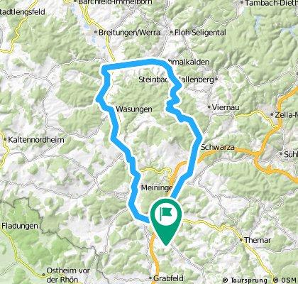 2016-07-09: Einhausen - Meiningen - Schmalkalden - Christes - Schwarza - Rohr