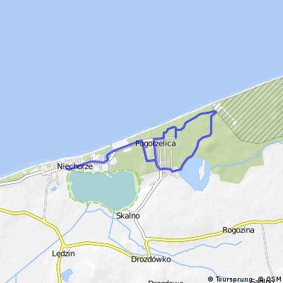 Fahrradroute 5 -- Mit Neptun und Rotkäppchen von Niechorze nach Pogorzelica