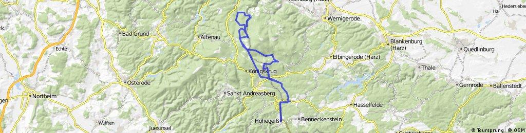 Hohegeiß: Wurmbergstieg Skidenkmal Pionierweg
