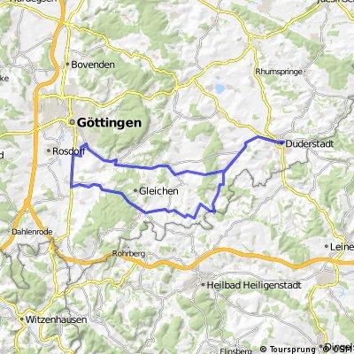 Göttingen - Duderstadt - Bremke - Göttingen