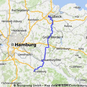 Cycling routes and bike maps in and around Lbeck Bikemap Your