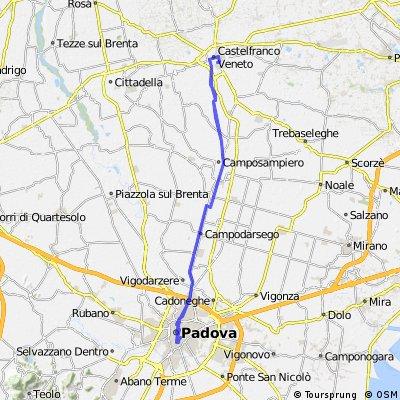 Da Castelfranco Veneto al Santo di Padova