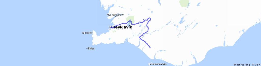 1.etapa Rejkiavik - Pingvellir - Geysir - Gullfoss - Hvolsvollur