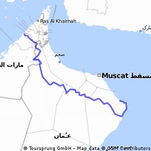 Oman Dubai tot aan Sur