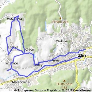 AVION TRIP I. Zlin-Tecovice-Chlum-Rozhledna Hostisova-Chlum-Zlin