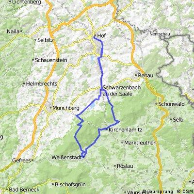 ADFC-Hof: Tour nach Weißenstadt