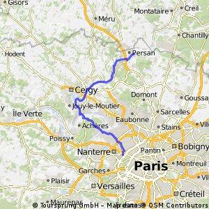 Dag 8 Puteaux - Beaumont sur Oise 54km