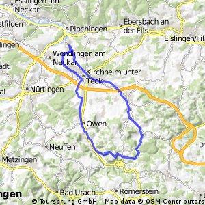 Rundtour 3 Wernau-Schopflocher Alb